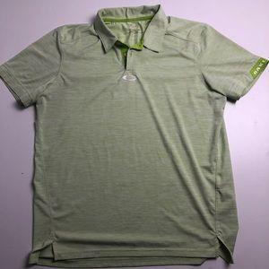 Oakley Golf Shirt Green Mens Polo Large